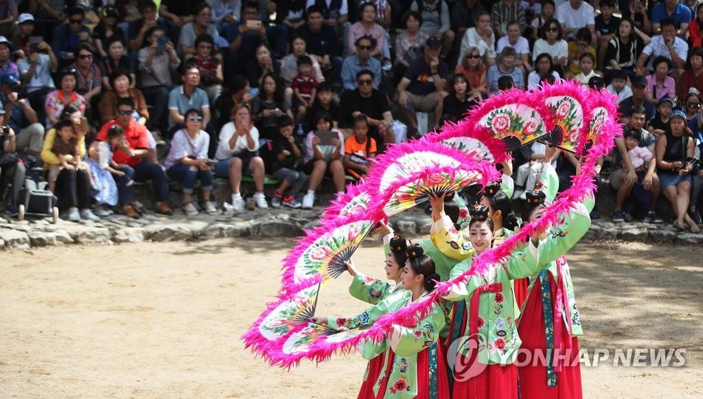 韩国传统扇舞