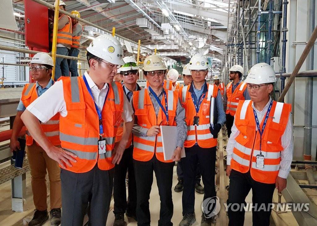 李在镕视察沙特地铁建设项目