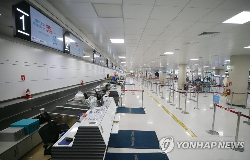 台风致济州航班停航