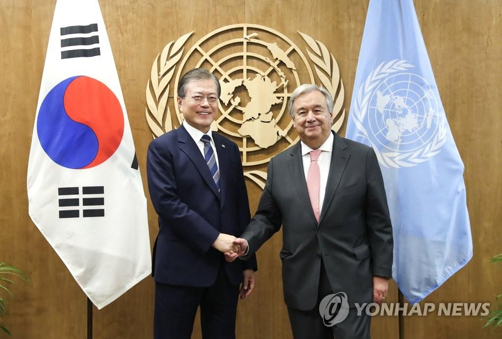 联合国秘书长致函文在寅赞赏韩国抗疫举措