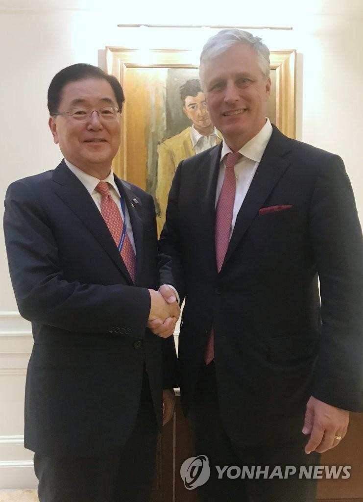 韩美国安首长通电话讨论合作防控新冠疫情