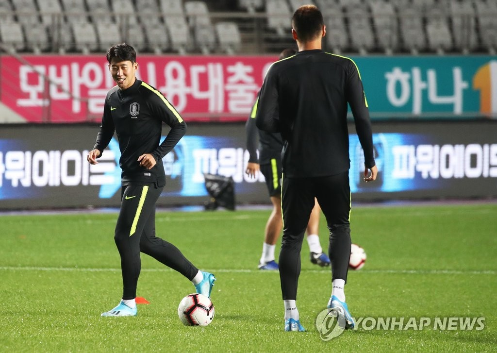 韩国男足备战世预赛