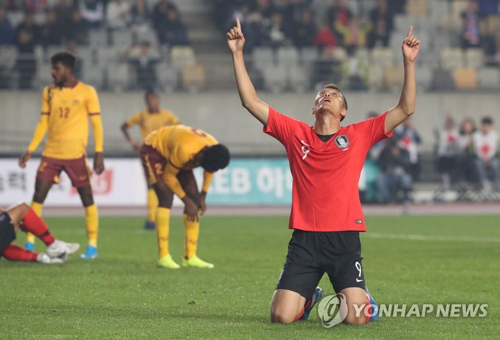 世预赛韩国8比0大胜斯里兰卡