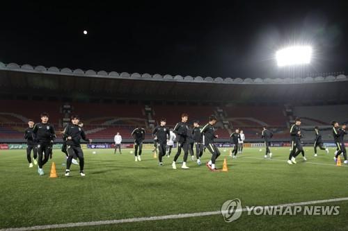 韩国男足在平壤备赛
