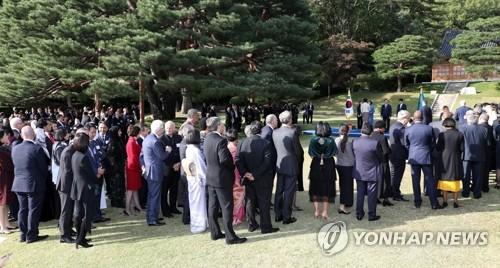 各国驻韩外交使节