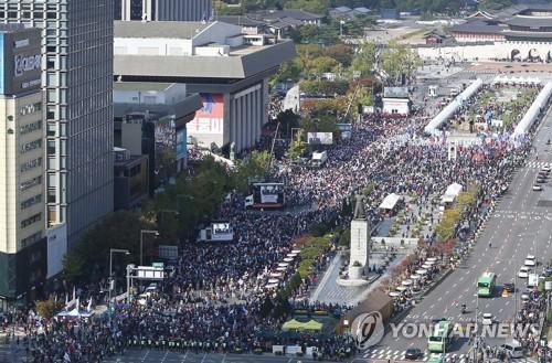 韩在野党反对政府政策
