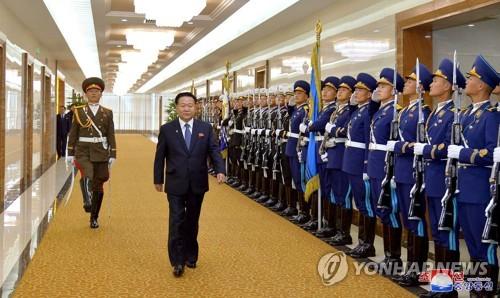 朝鲜二把手崔龙海拜会阿塞拜疆总统阿利耶夫