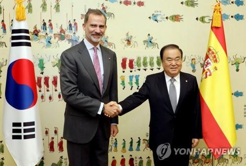 韩议长会见西班牙国王