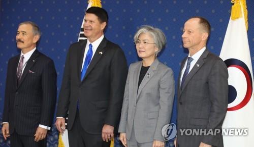 韩外长接见美国副国务卿和国务助卿