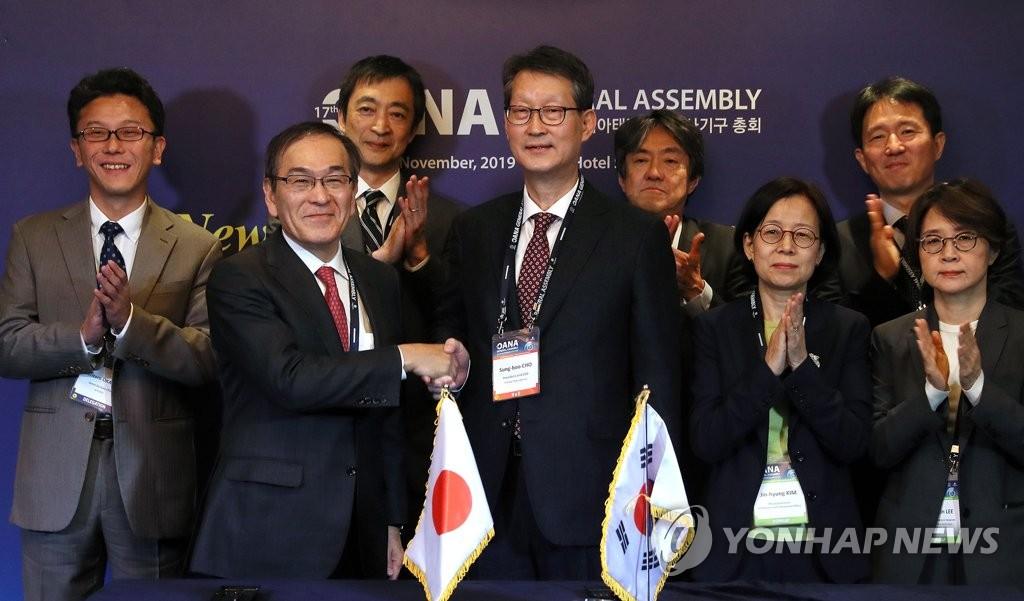 韩联社和共同社加强合作