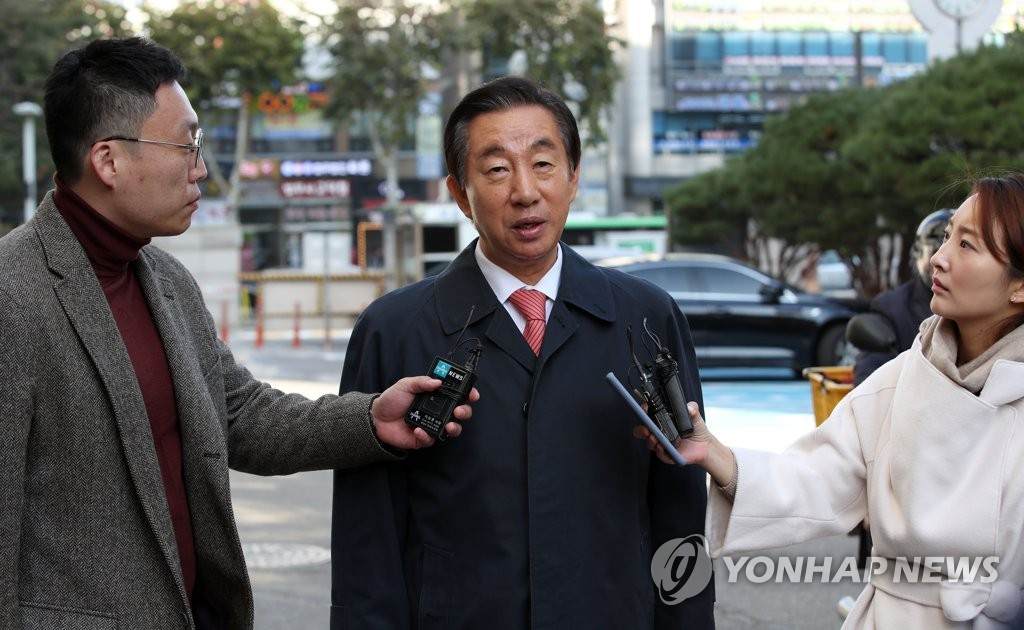 韩在野党议员出庭受审