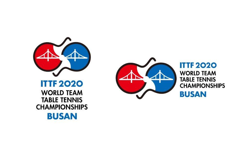 2020釜山世界乒乓球锦标赛标志 大赛组委会供图(图片严禁转载复制)