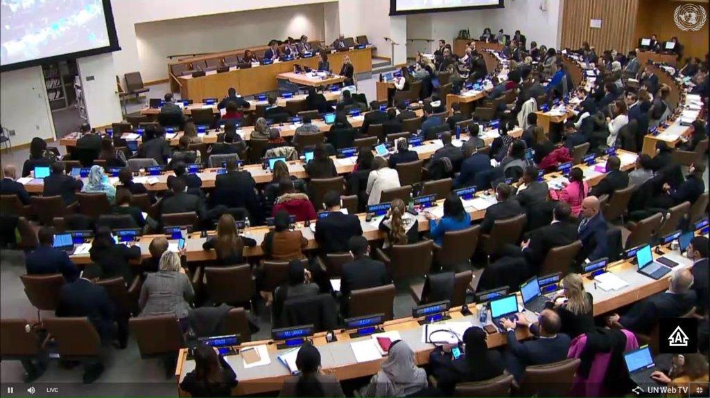 资料图片:去年11月举行的联合国大会第三委员会会议照 韩联社/联合国电视画面截图(图片严禁转载复制)