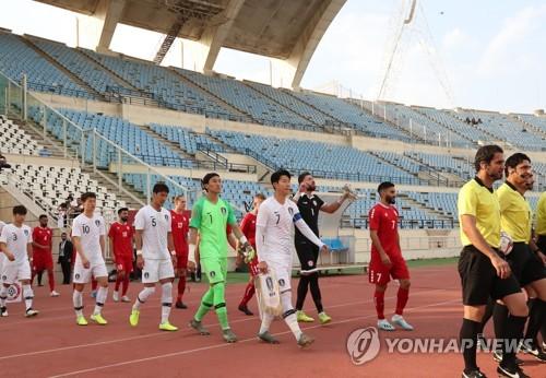 韩国黎巴嫩对阵零观众