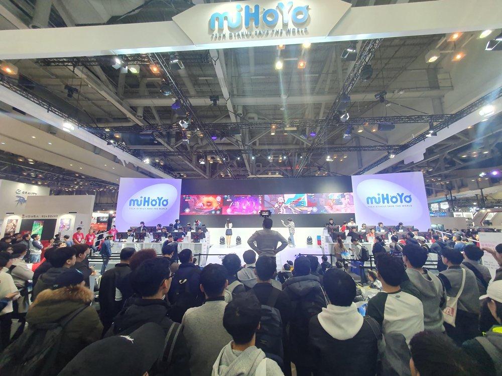 """资料图片:韩国最大规模的国际电玩展""""G-STAR 2019""""现场照 韩联社"""