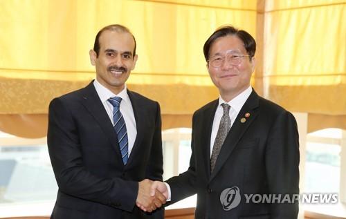 韩产业部长会见卡塔尔能源部长