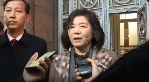 朝鲜副外相崔善姬接受采访