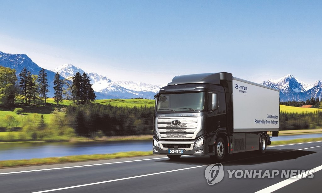 现代氢能源卡车在里昂车展获奖