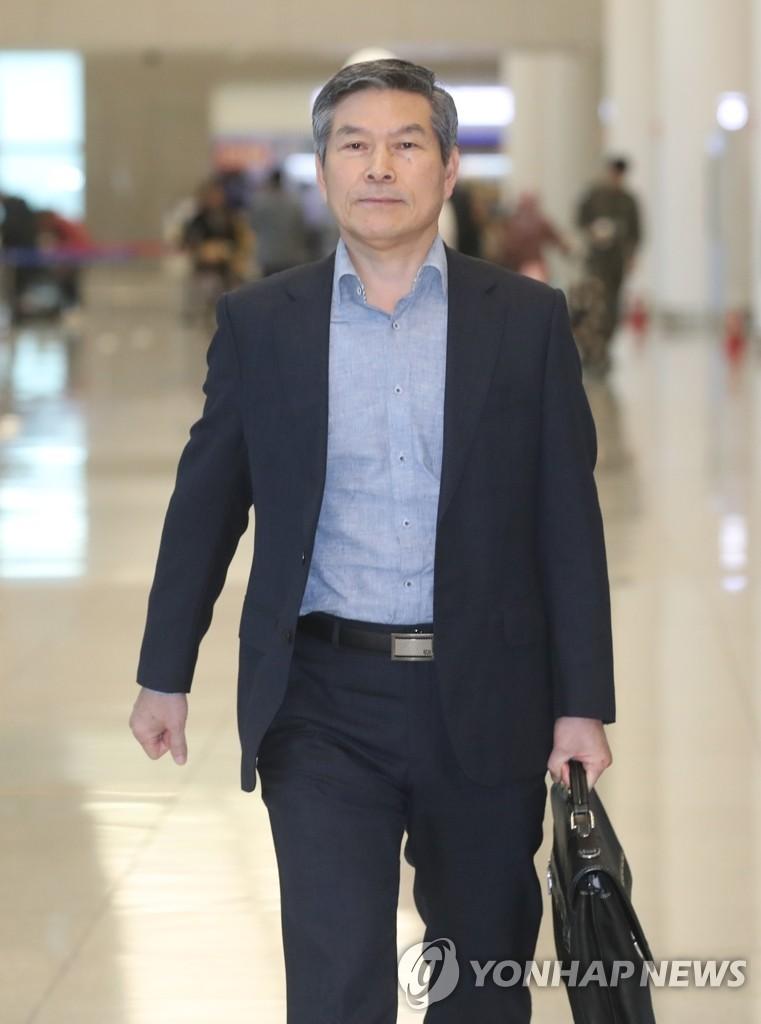 韩防长结束出访回国