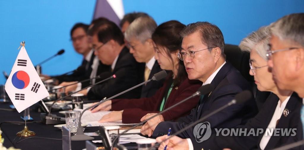 韩泰首脑会谈现场 韩联社