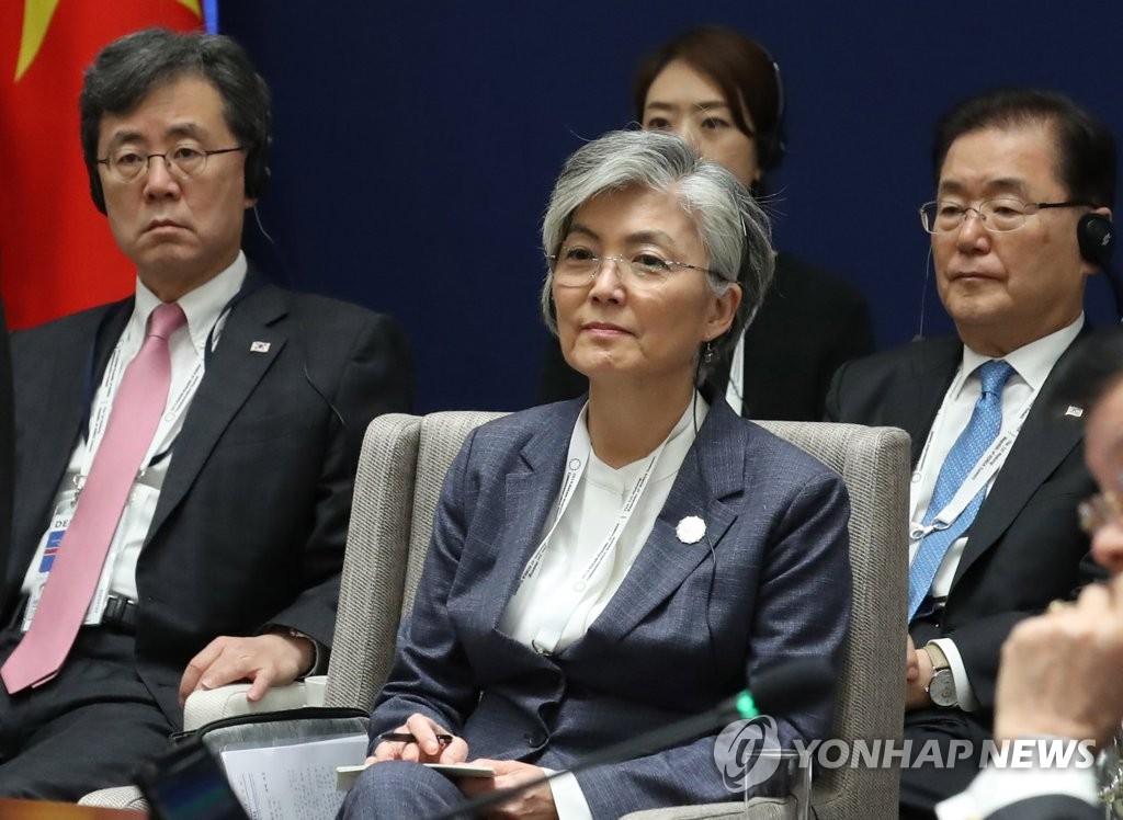 资料图片:康京和 韩联社