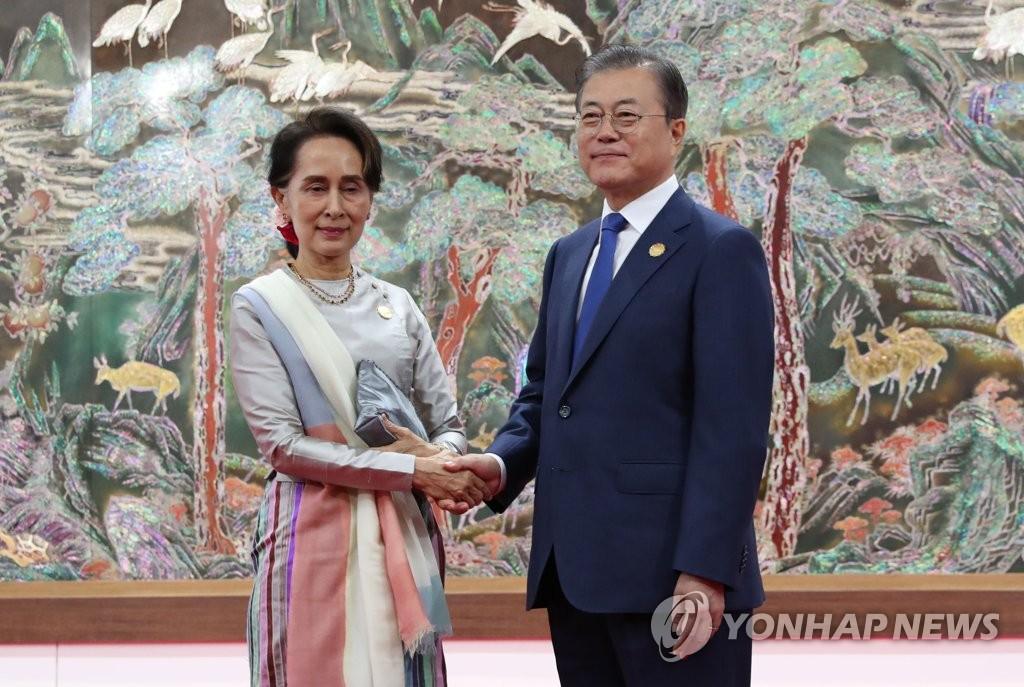 文在寅和缅甸领导人互换信函商定携手抗疫