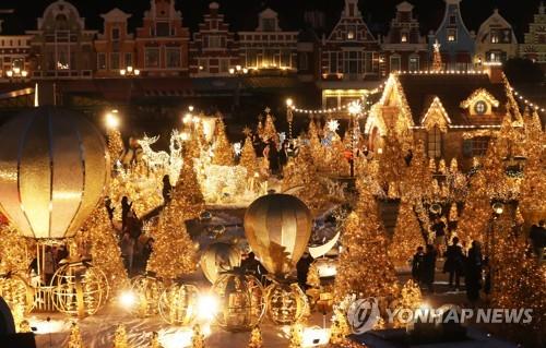 圣诞节灯光秀