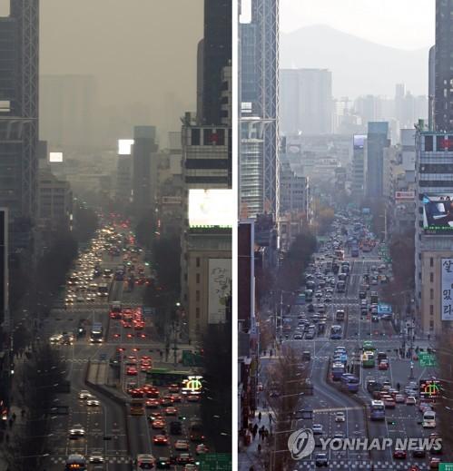 统计:韩国雾霾年均浓度递减重雾霾发生频率增加
