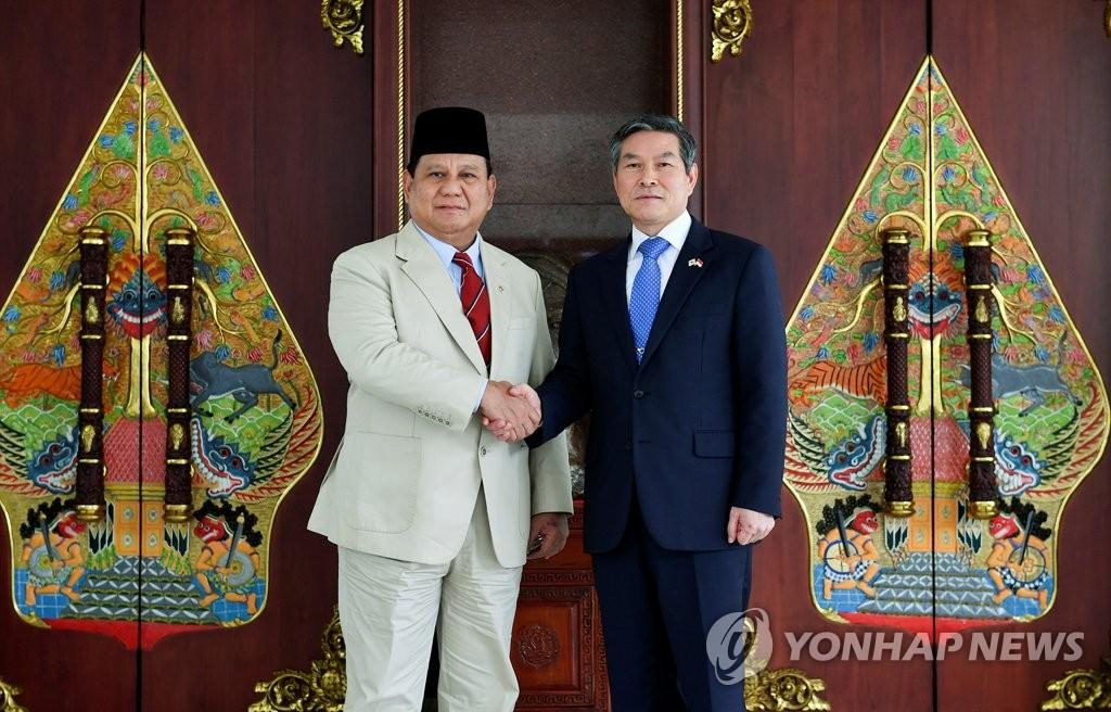 韩印尼防长会晤