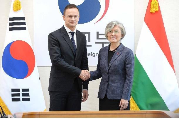 韩匈牙利外长会晤