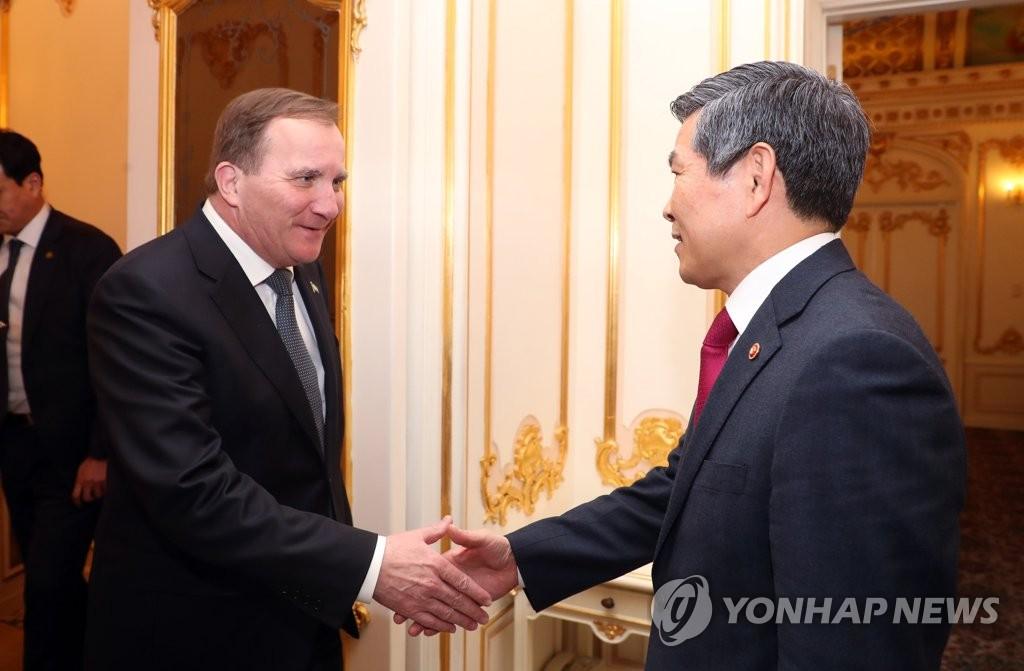 韩国防长会见瑞典首相谈军工合作