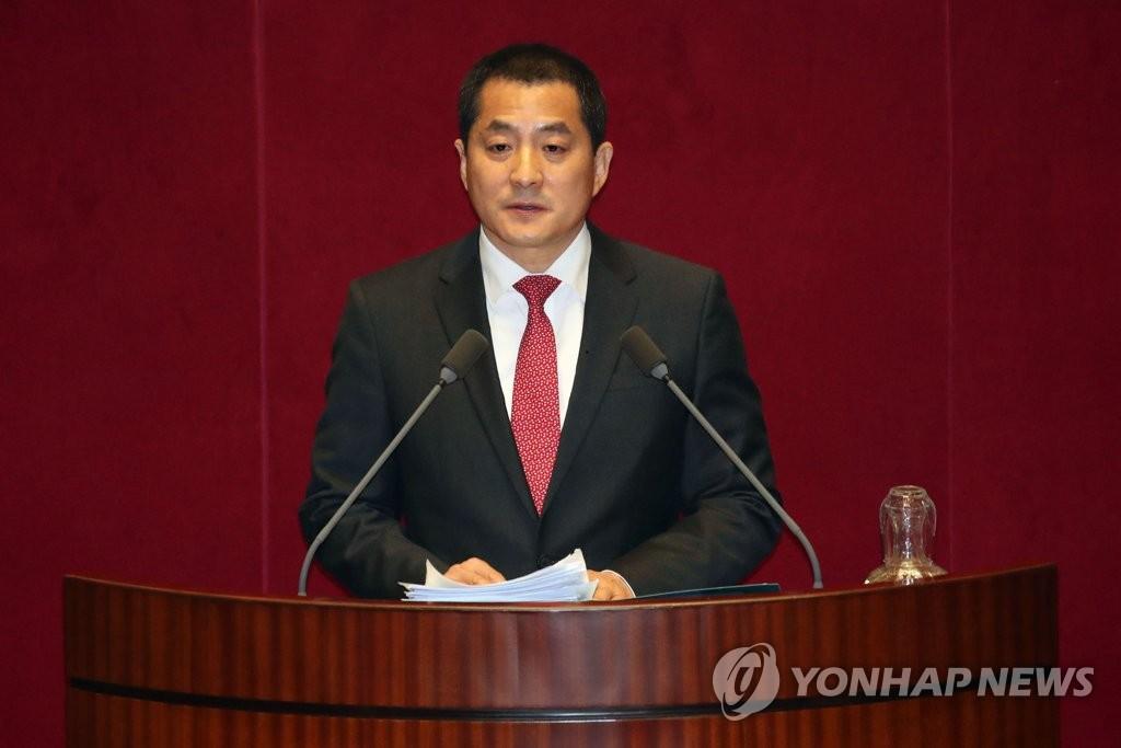 资料图片:未来统合党籍议员朴大出 韩联社