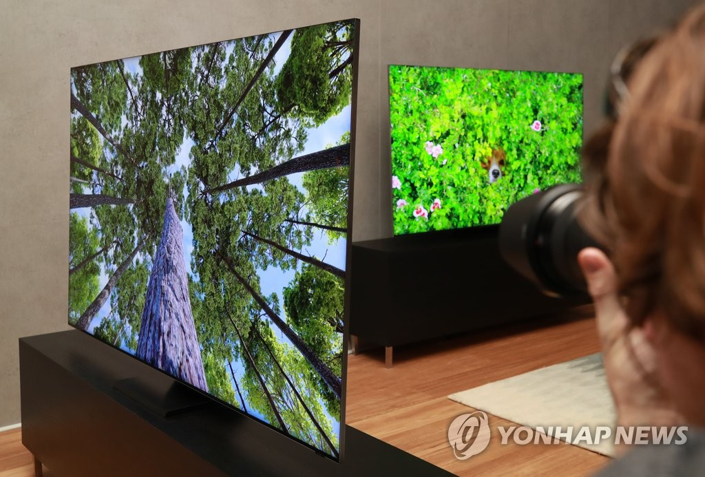 当地时间1月5日,在美国拉斯维加斯,三星电子举行新款电视机发布会。 韩联社