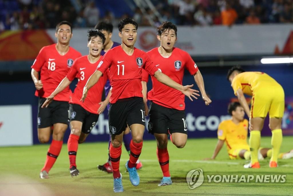 U23亚锦赛韩国男足1比0险胜中国