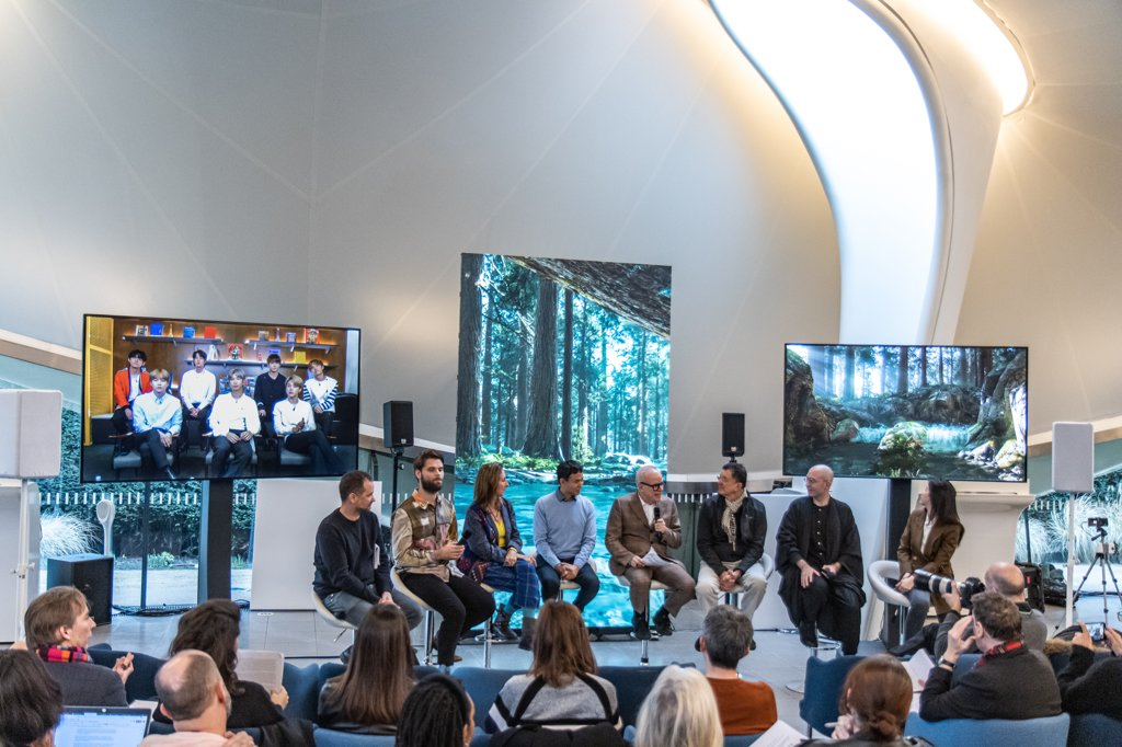 资料图片:CONNECT,BTS现代美术展览活动在伦敦蛇形画廊举行。 Greg Morrison/Cultureshock供图(图片严禁转载复制)