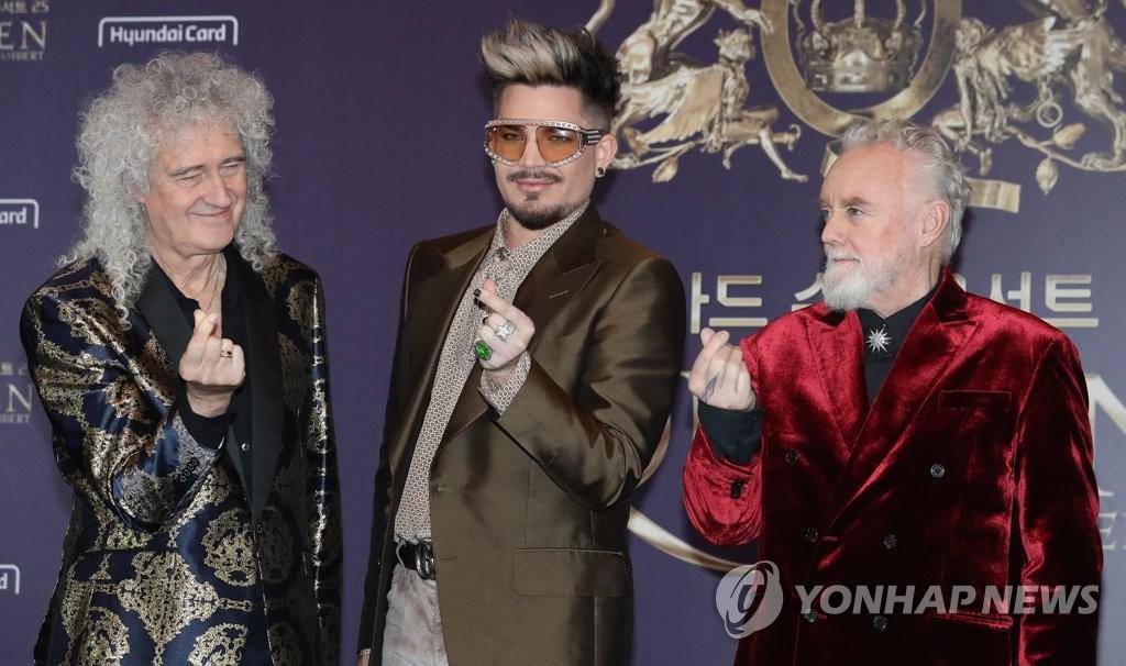 皇后乐队访韩开唱 祝贺K-POP征服世界