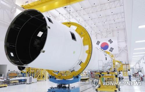 """韩国自研运载火箭""""Nuri""""号研发现场"""