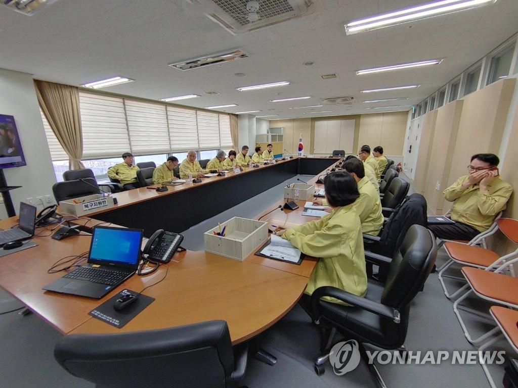 1月18日,忠清南道教育厅开会商讨教师失踪事故对策。 韩联社