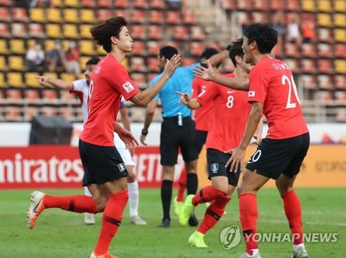 U23亚锦赛韩国2比1战胜约旦