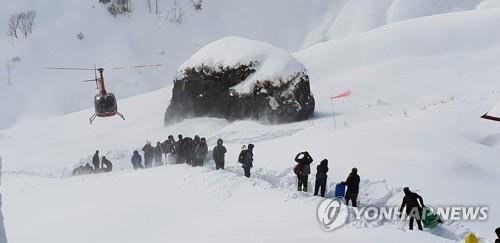 直升机救援登山人员