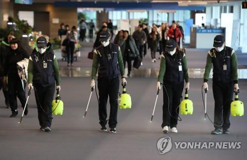 仁川机场节前绷紧神经防范新型肺炎