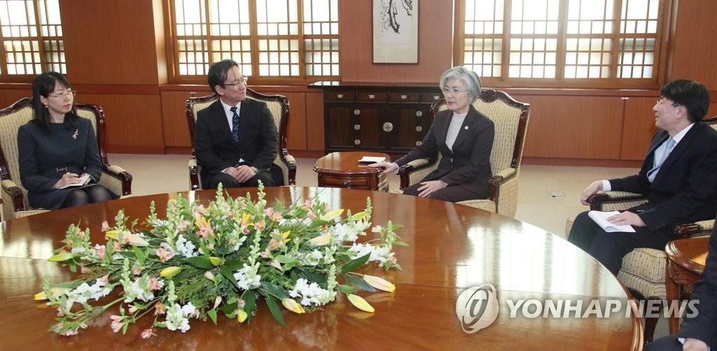 韩外长会见东北亚合作秘书处负责人