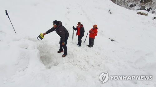 搜救尼泊尔雪崩韩籍失踪者
