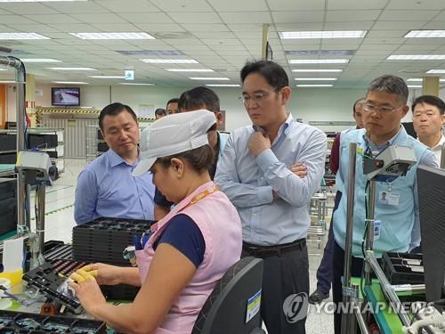 李在镕视察三星电子巴西工厂