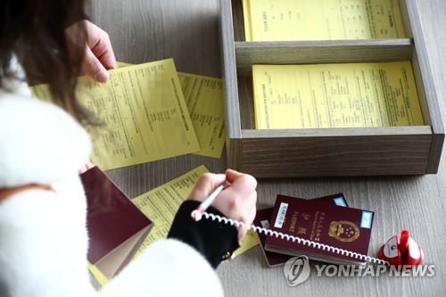 中国旅客填写健康状态问卷