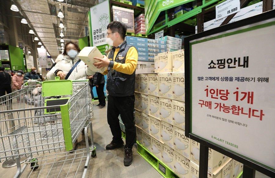 韩国济州至中国防疫用品快递量骤增