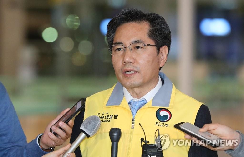 应急工作组组长、外交部在外同胞领事室长李相镇 韩联社