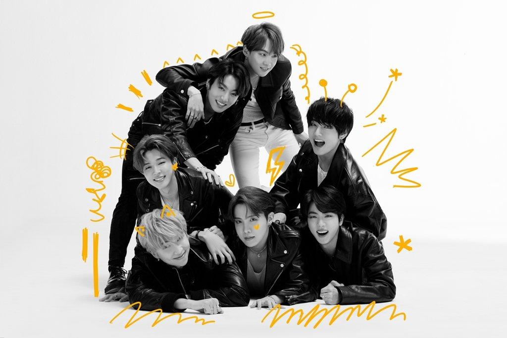 资料图片:图为防弹少年团公开的新专辑最后一张主题照。 韩联社/Big Hit娱乐供图(图片严禁转载复制)
