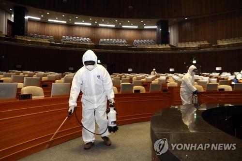 国会实施防疫消毒