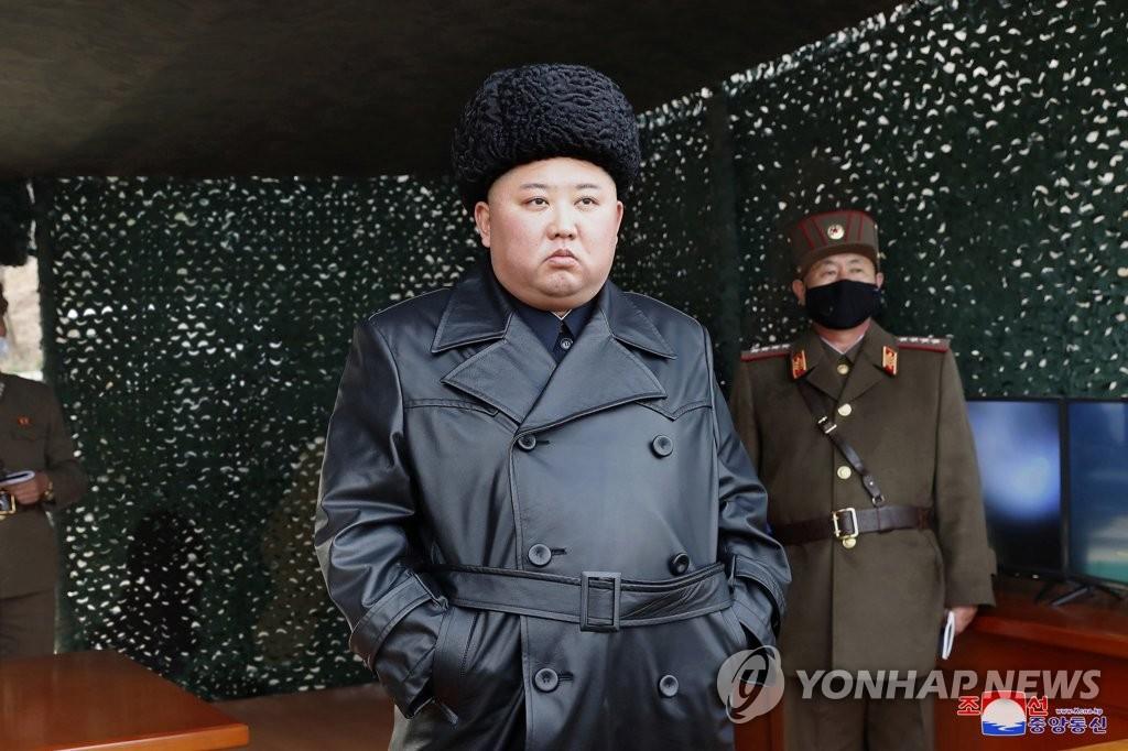 朝鲜昨或发射超大型火箭炮 金正恩指导训练